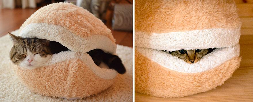 1.- Cama con forma de hamburguesa