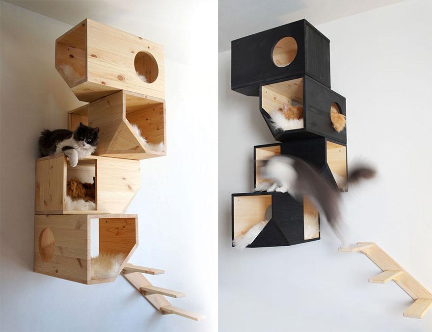 15.- Casa del arbol para gatos