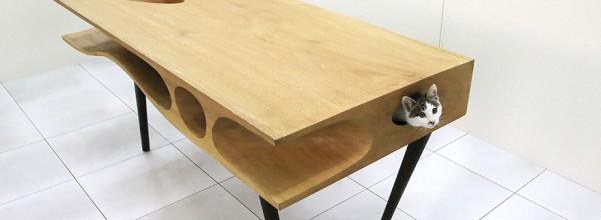 5.- Mesa con orificios para gato